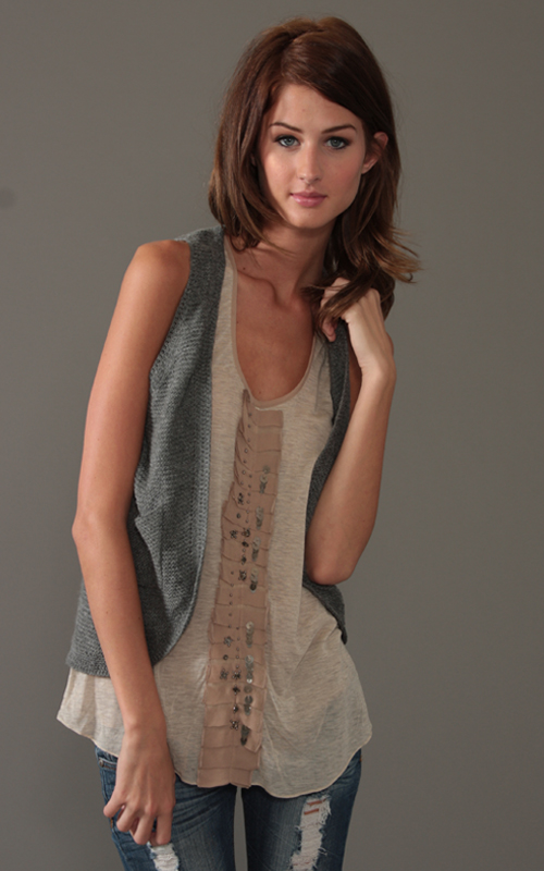 Sugarlips Look of the Day « Sugarlips Blog :  studded new style womens fashion studded sweater vest
