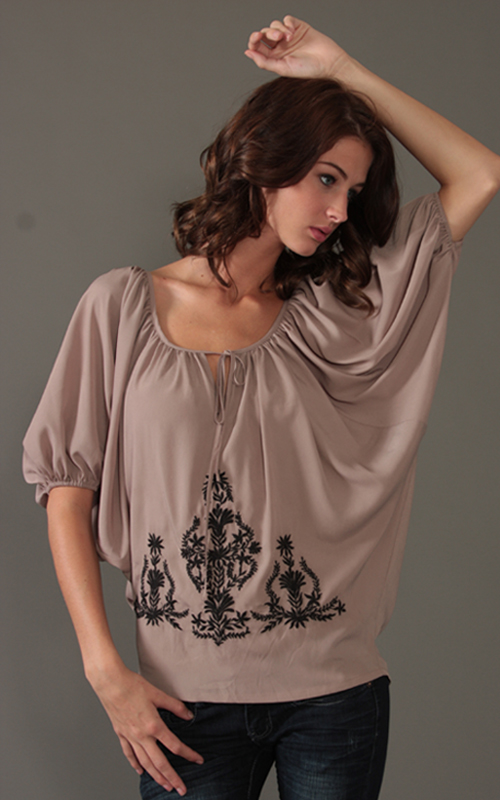 Sugarlips Look of the Day « Sugarlips Blog :  fashion batwing sleeve embroidered top sugar lips apparel sugarlips apparel