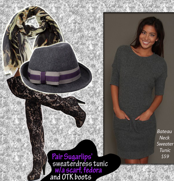 Sweaterdress Cozy « Sugarlips Blog :  womens sweater dress sugarlips apparel sugar lips apparel bateay neck sweater tunic