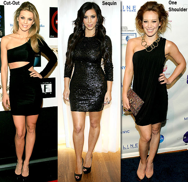 The Ideal LBD « Sugarlips Blog :  one shoulder ruffle dress annalynne mccord hillary duff sugarlips apparel