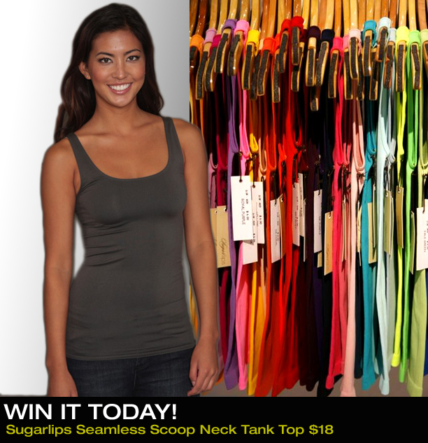 Win It Today! « Sugarlips Blog :  fashion sugarlips apparel sugar lips apparel seamless scoop neck tank top